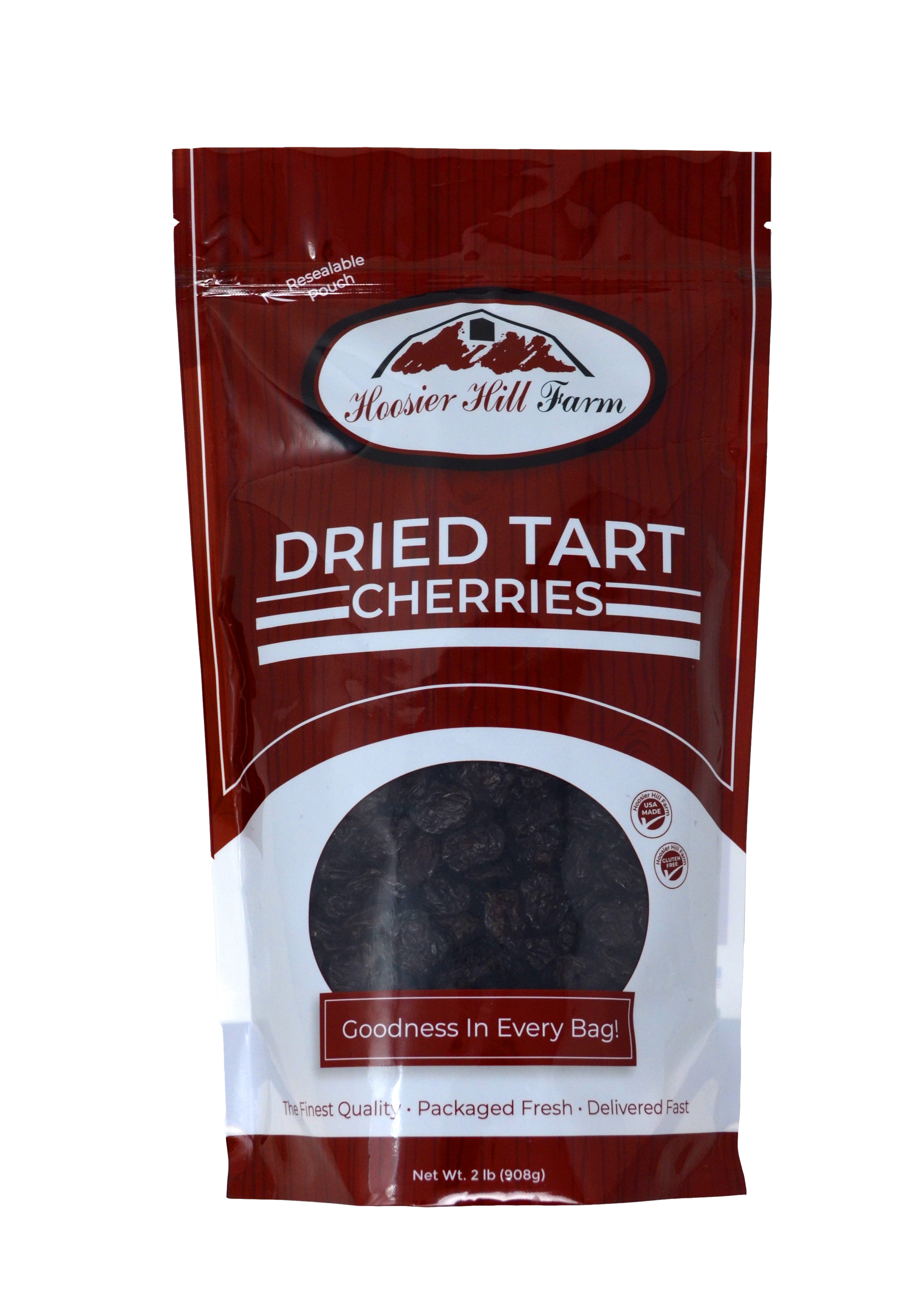Dried Tart Cherries, Hoosier Hill Farm, 2 lbs