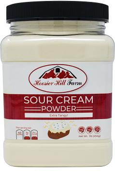 Hoosier Hill Farm EXTRA Tangy Sour Cream Powder, 1 lb.