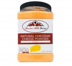 Hoosier Hill Farm Premium Cheddar Cheese Powder, No Artificial Colors, 2.5 lb