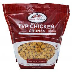 Hoosier Hill Farm Imitation Chicken Chunks (Unflavored TVP - SOY Protein), 3 lb Bag
