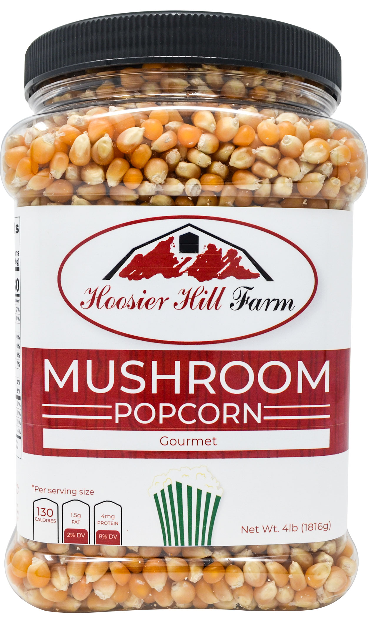 Hoosier Hill Farm Gourmet Mushroom, Popcorn Lovers 4 lb. Jar.