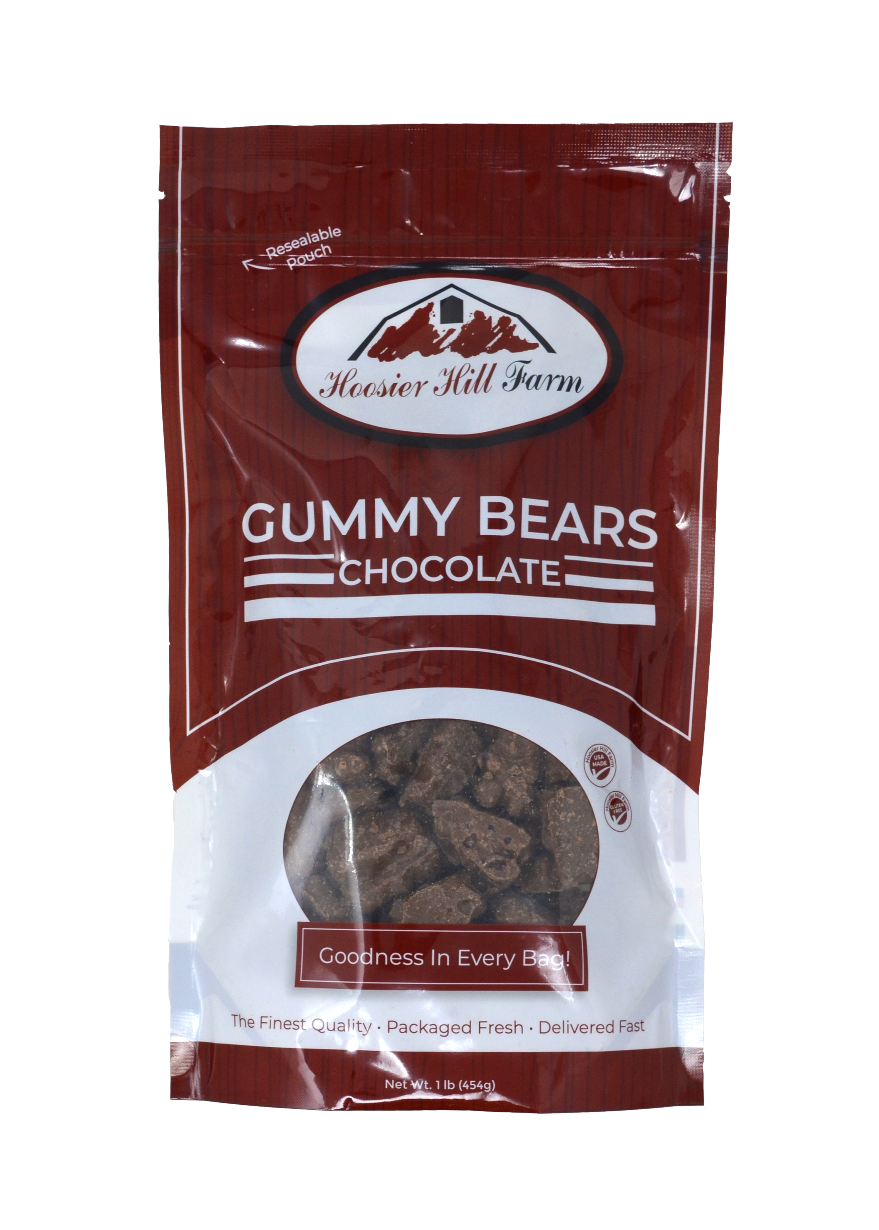 Chocolate covered Gummy Bears, 1lb