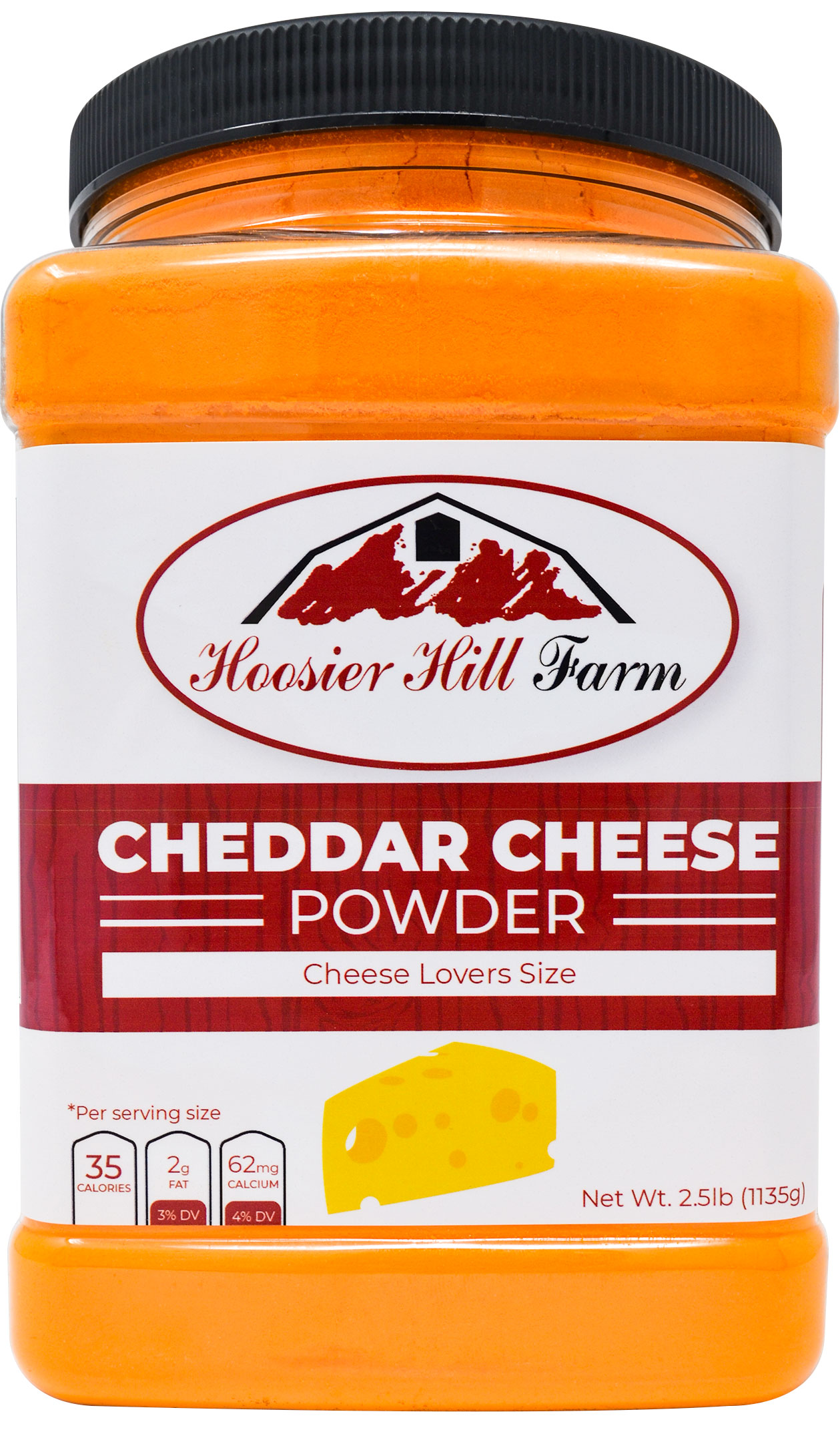 Hoosier Hill Farm Cheddar Cheese Powder, Cheese lovers 2.5 lb. size
