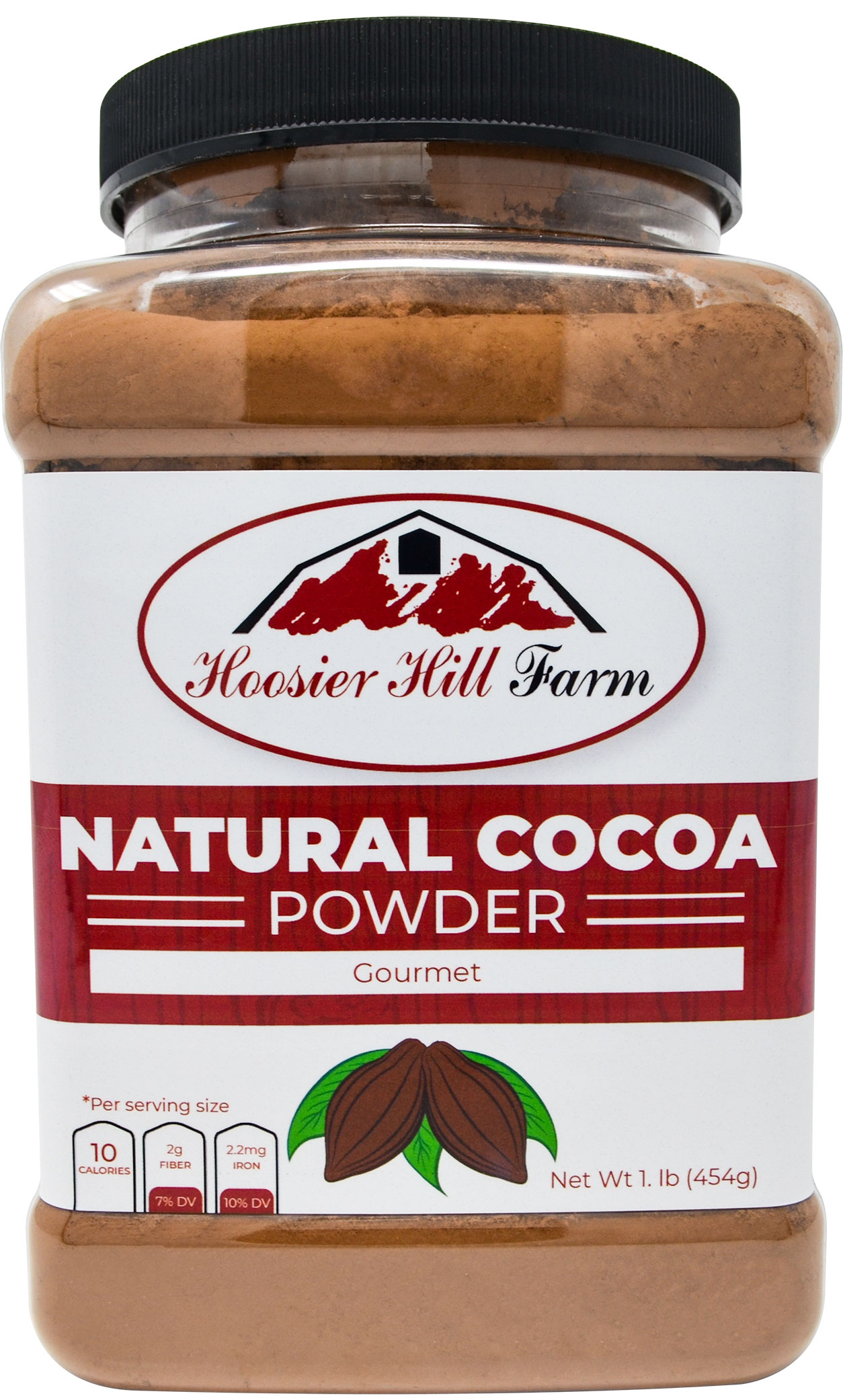 Hoosier Hill Farm Natural Cocoa Powder, 1 lb