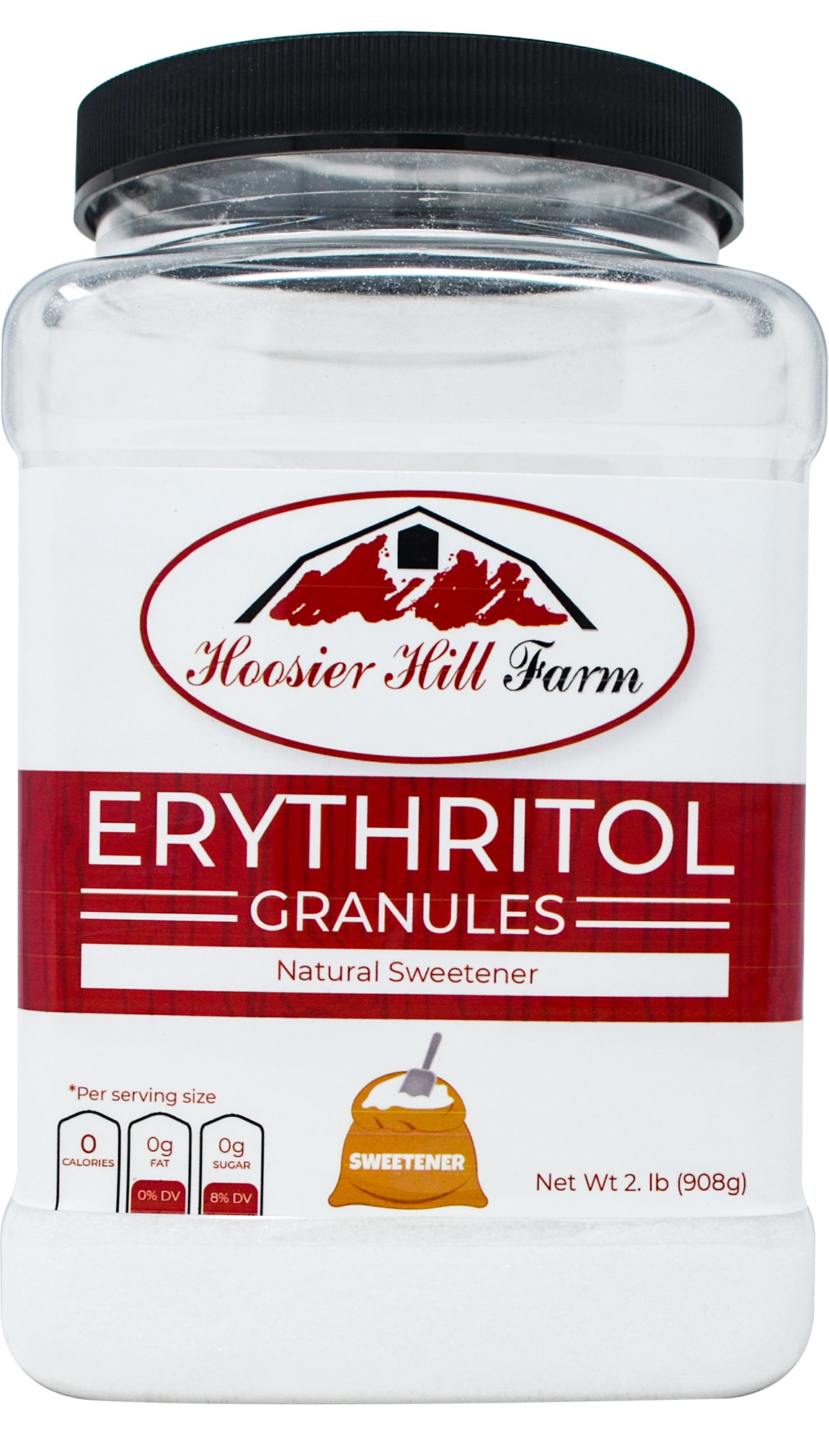 Hoosier Hill Farm Erythritol Granules 2 lb. Jar