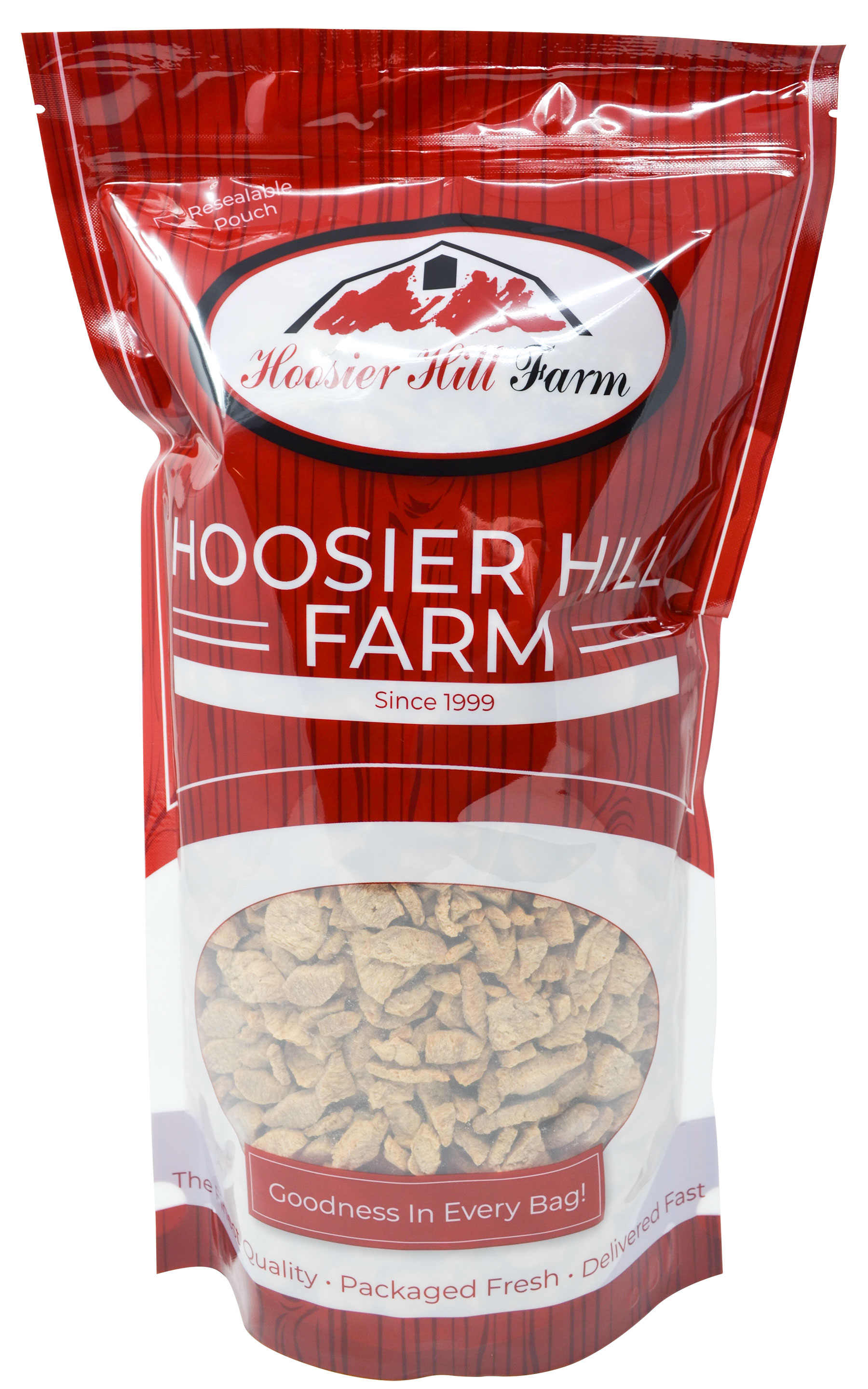 Hoosier Hill Farm Imitation Chicken Strips (Unflavored TVP SOY Protein), 3 lb Bag