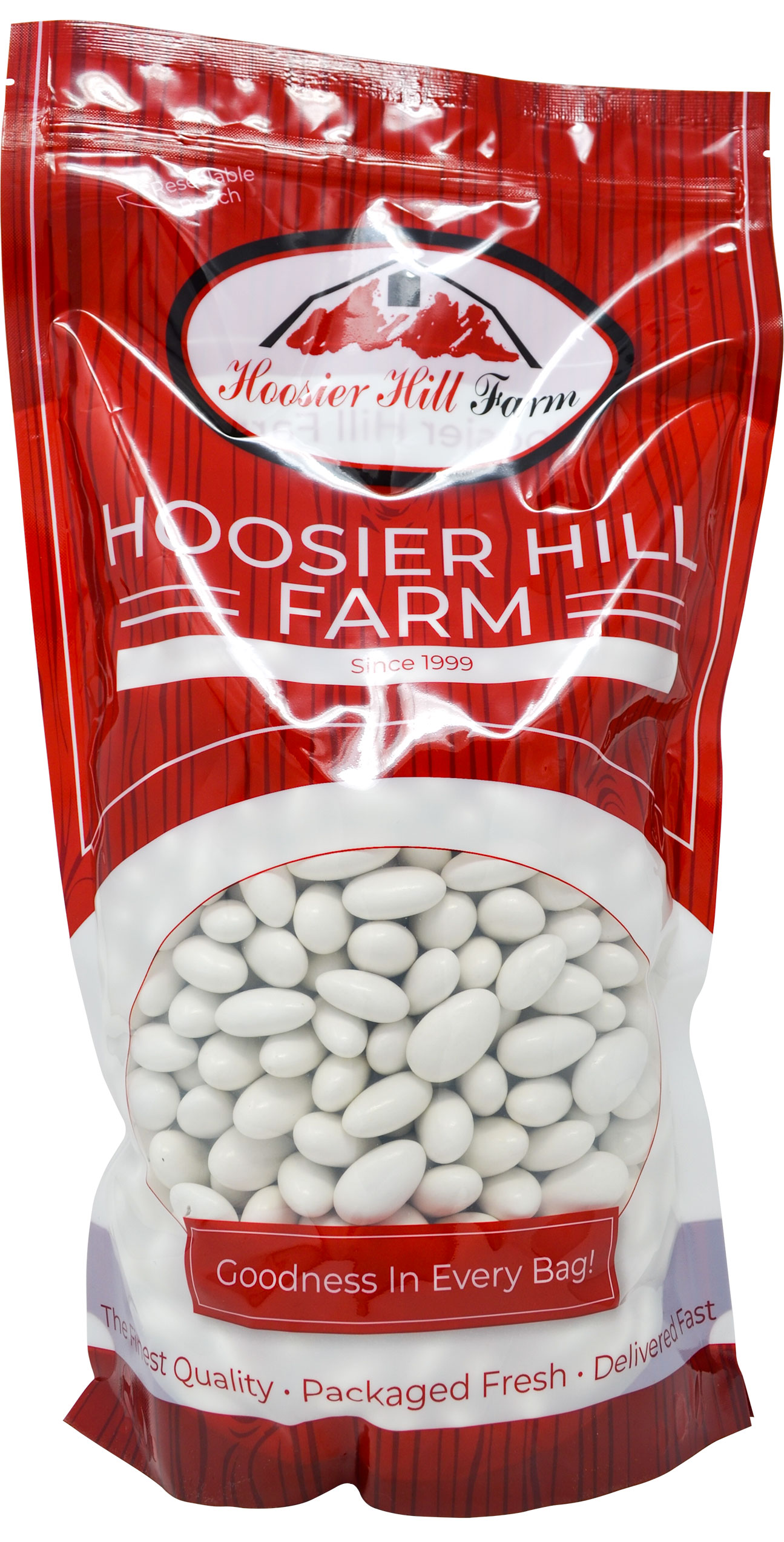 Hoosier Hill Farm White Jordan Almonds, 5 Lb.