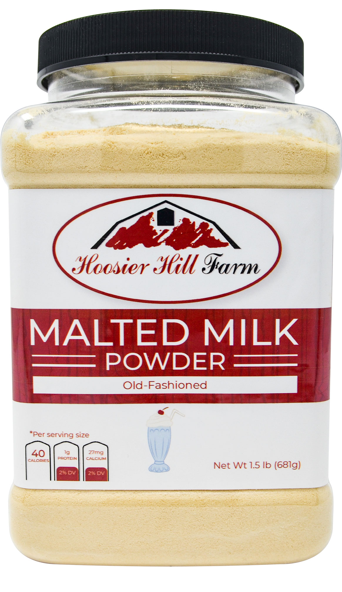 Old-fashioned Malted Milk Powder by Hoosier Hill Farm, 1.5 lbs.