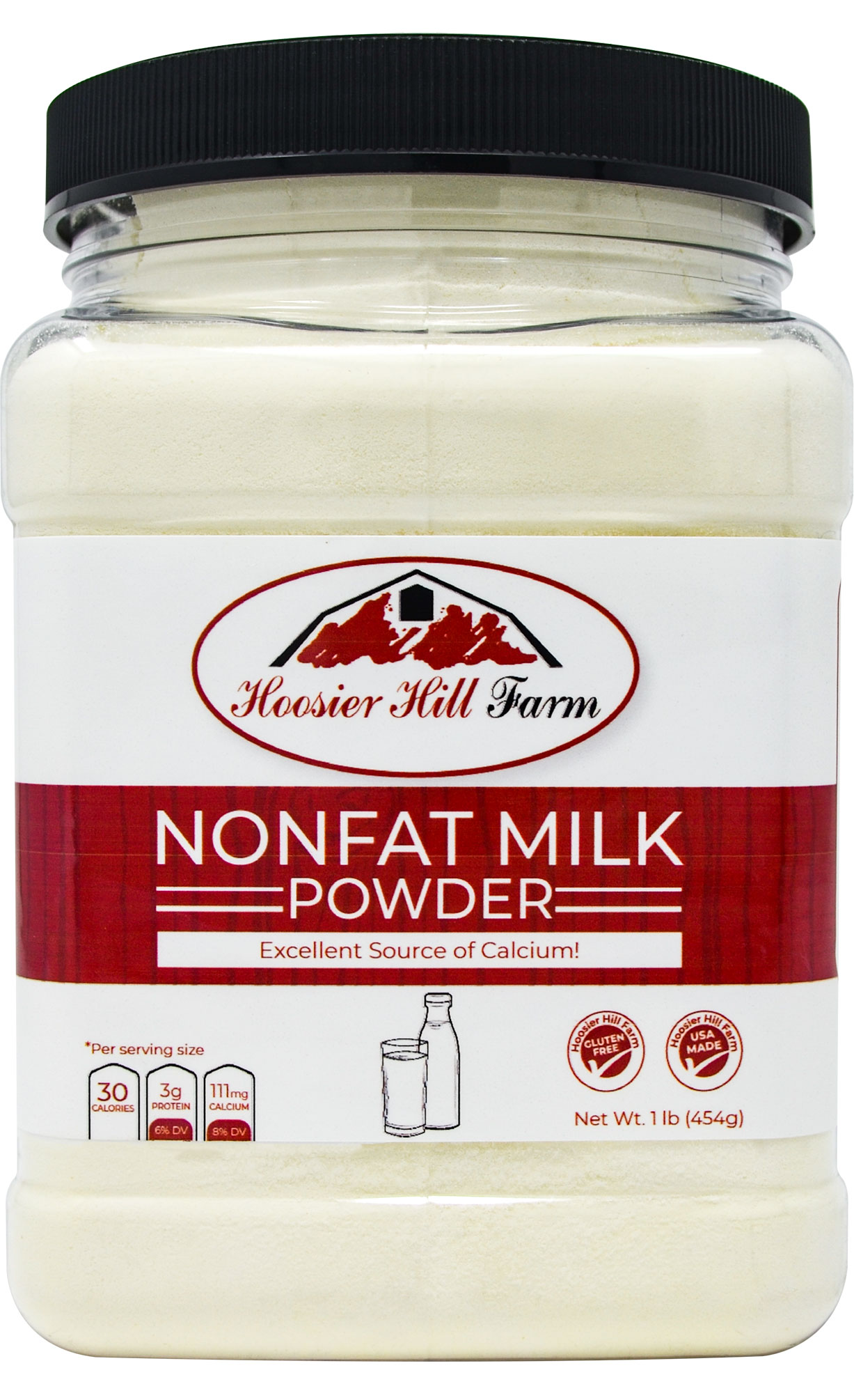 Hoosier Hill Farm Instant Nonfat Dairy Milk Powder 1 lb
