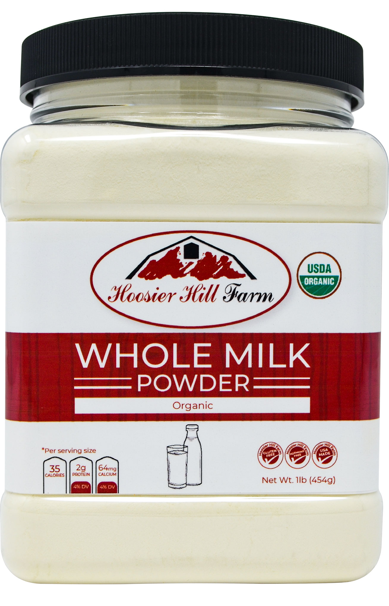 Hoosier Hill Farm ORGANIC Whole Milk Powder 1 Lb