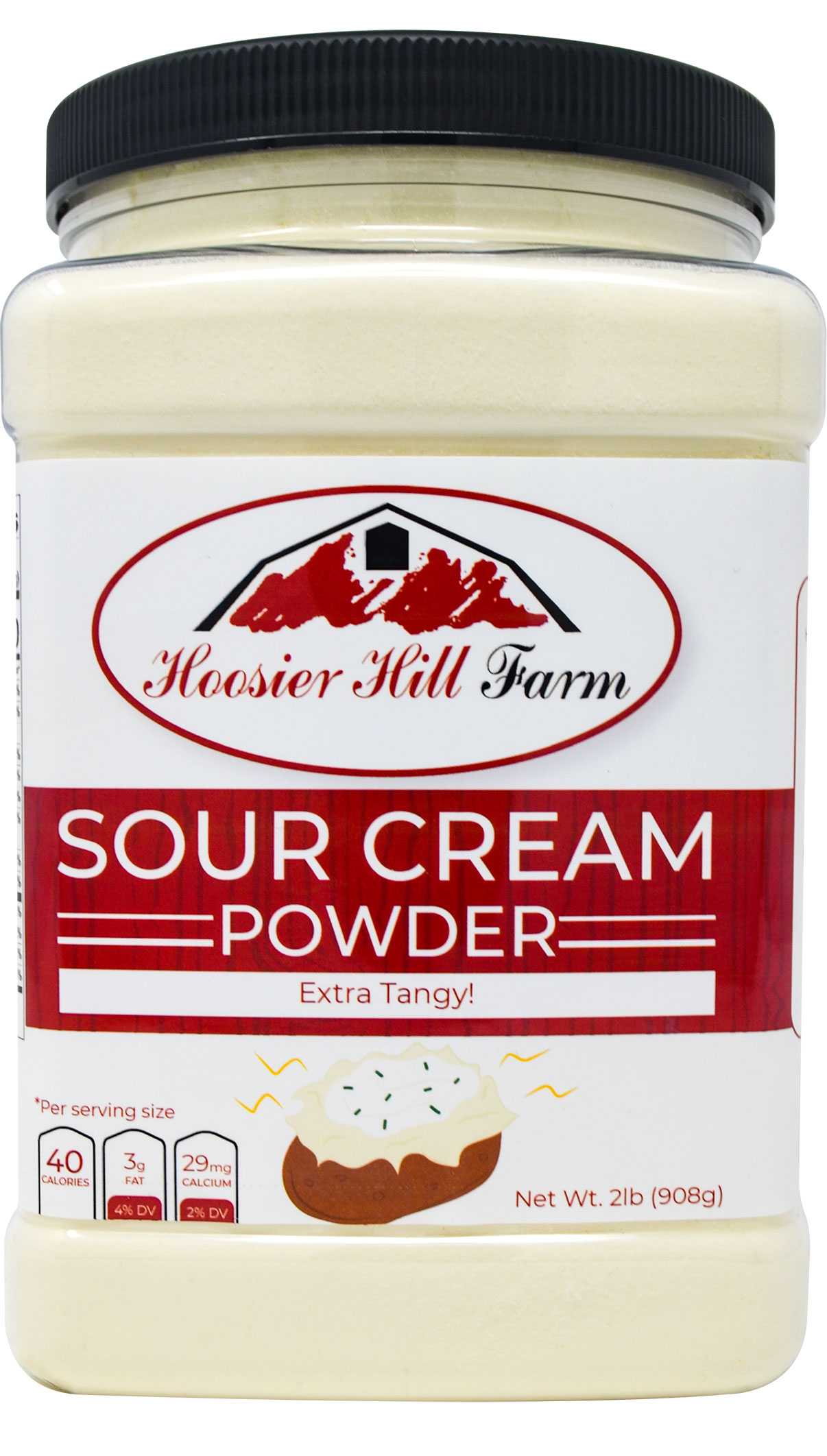 Hoosier Hill Farm EXTRA Tangy Sour Cream Powder, 2 Lb