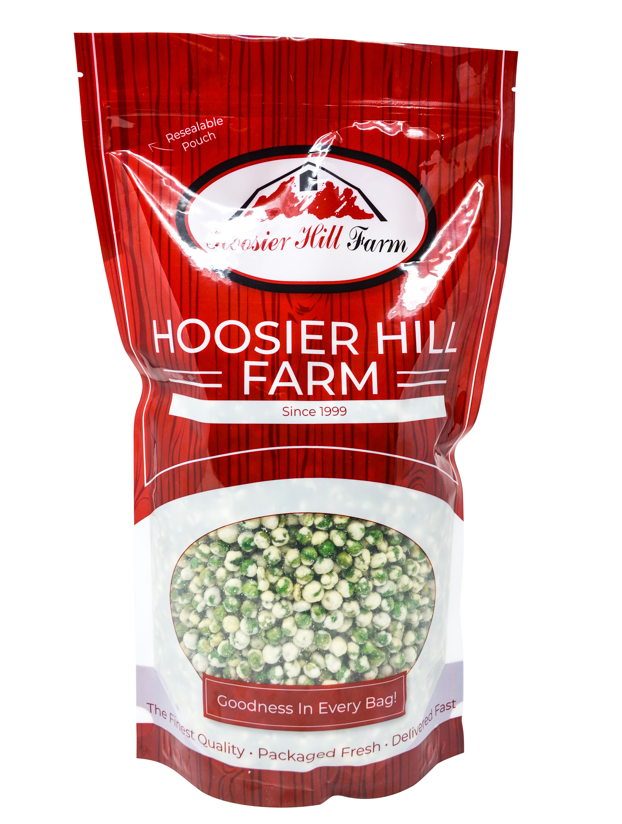 Hoosier Hill Bakers Bags, Bulk Sizes (Wasabi Peas / 13 lbs)