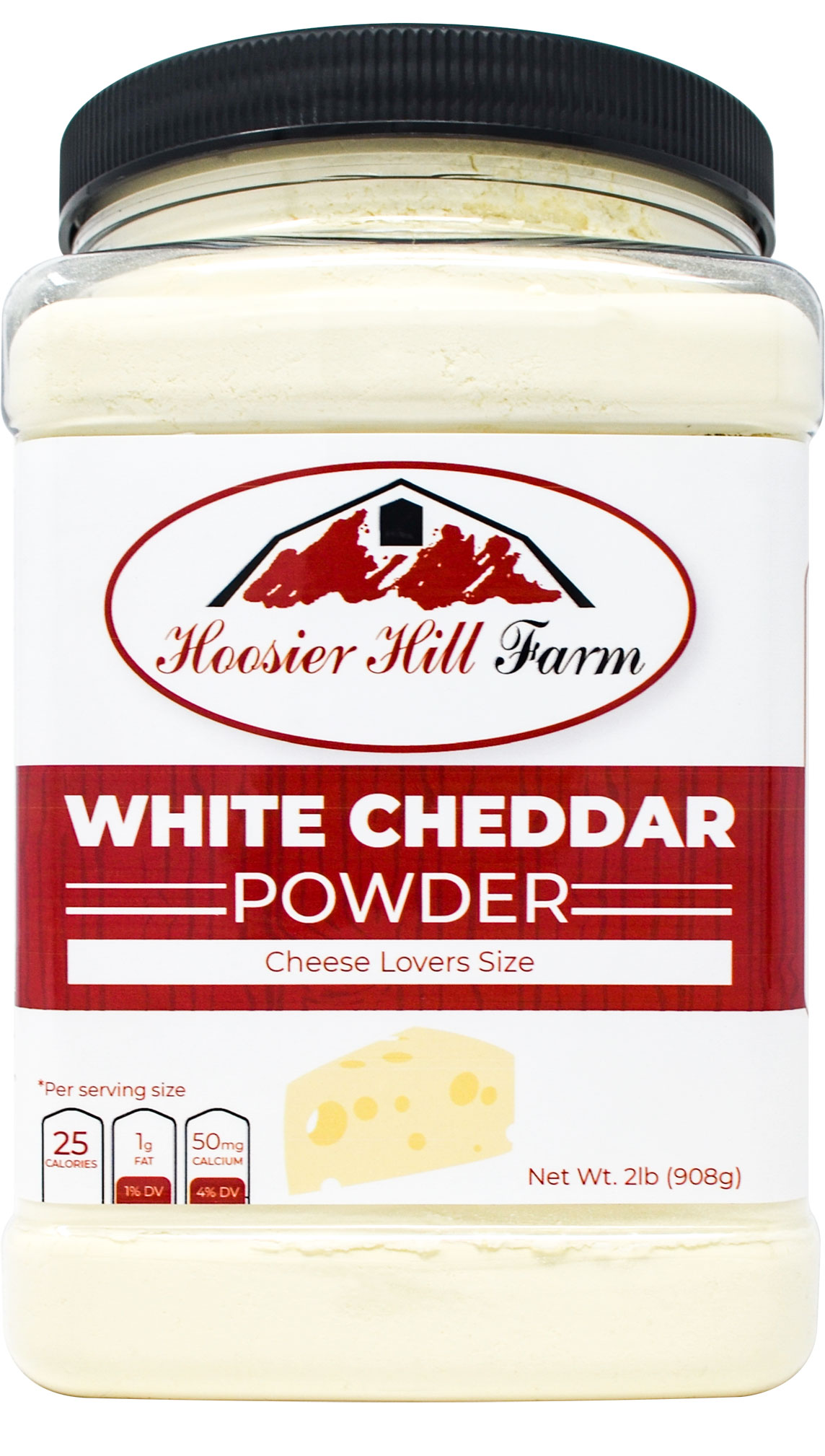 Hoosier Hill Farm White Cheddar Cheese Powder, cheese lovers 2 lb size